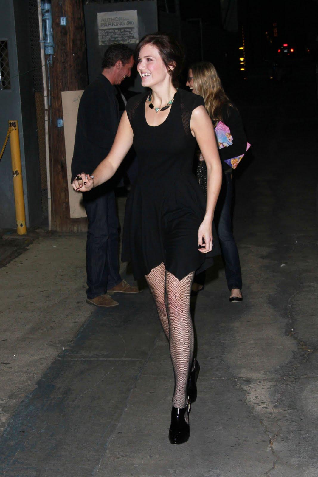 Celebrity Hosiery Mandy Moore