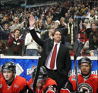 Patrick Roy as a coach of the Quebec Remparts