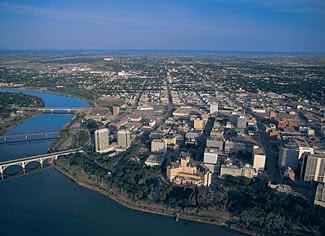 Saskatoon, Saskatchewan overhead image