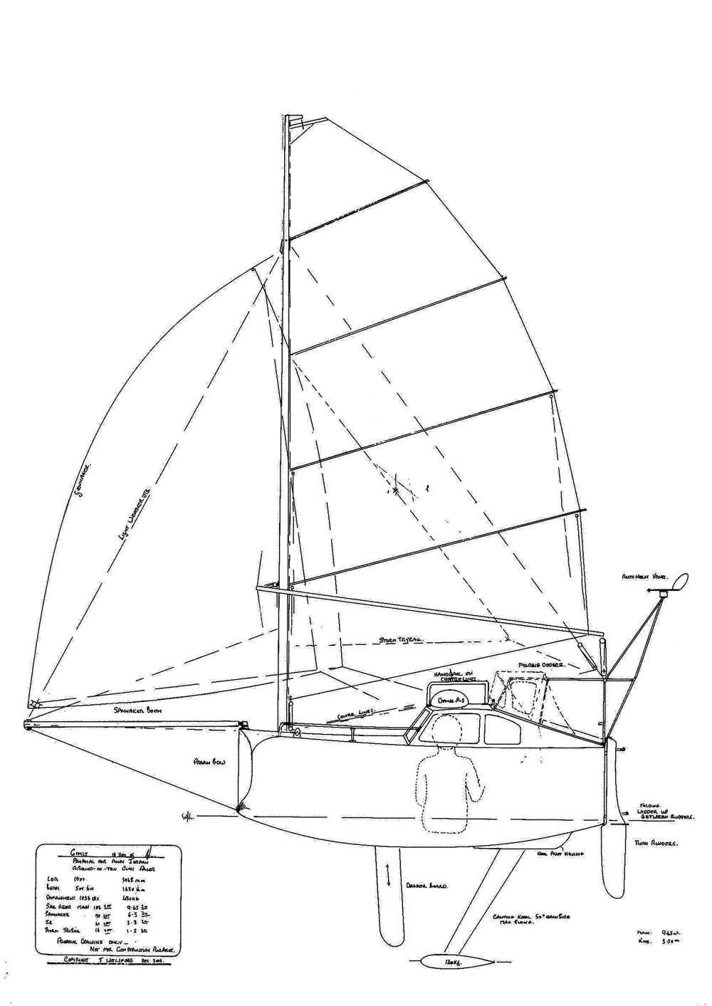 chined plywood mini transat by lucas archive the woodenboat forum E Scow Capsize