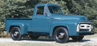 Ford S 1953 Trucks Received A Longer Hood That Flowed Into The Front Fenders Along With Horizontal Grille Bars Cabs Were Also New Boasting More Gl