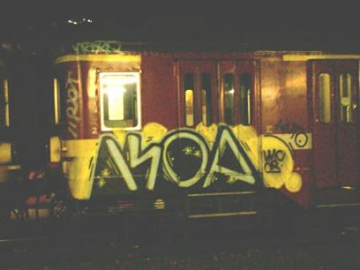 Koa train graffiti artist