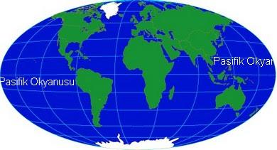 Pasifik Okyanusu Haritasi