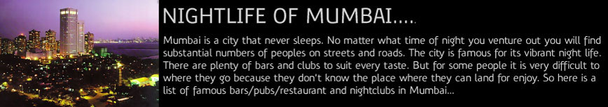 Nightlife of Mumbai