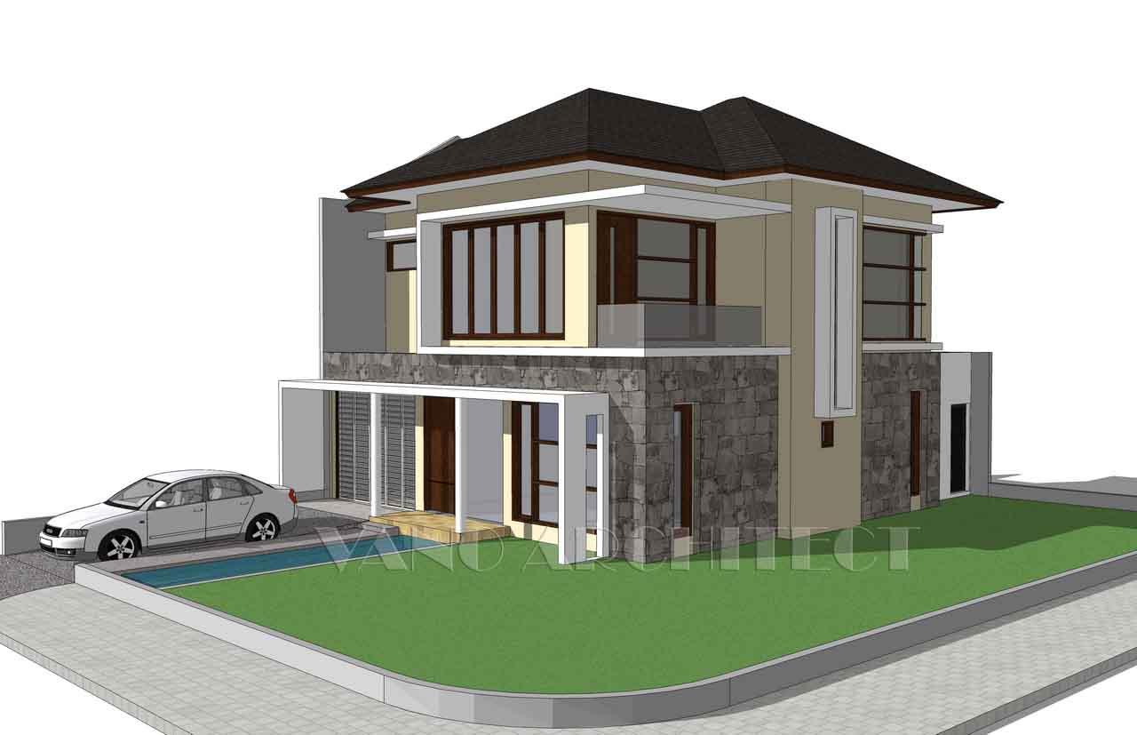 Desain Rumah Type Besar Di Kavling Hook Vano Architect