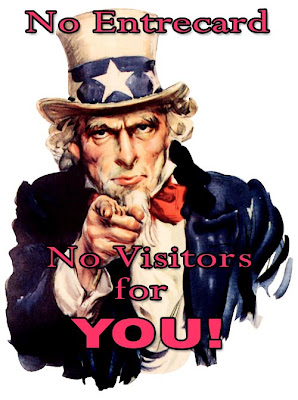 uncle sam saying if you didn't have Entrecard, you would have no visitors