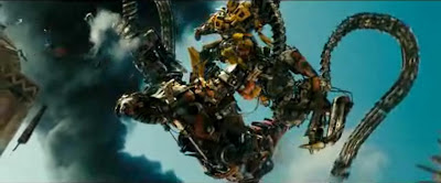 now red Rampage vs Bumblebee
