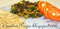 Ringan Methi nu Shaak(eggplant- fenugreek leaves curry) by Pooja