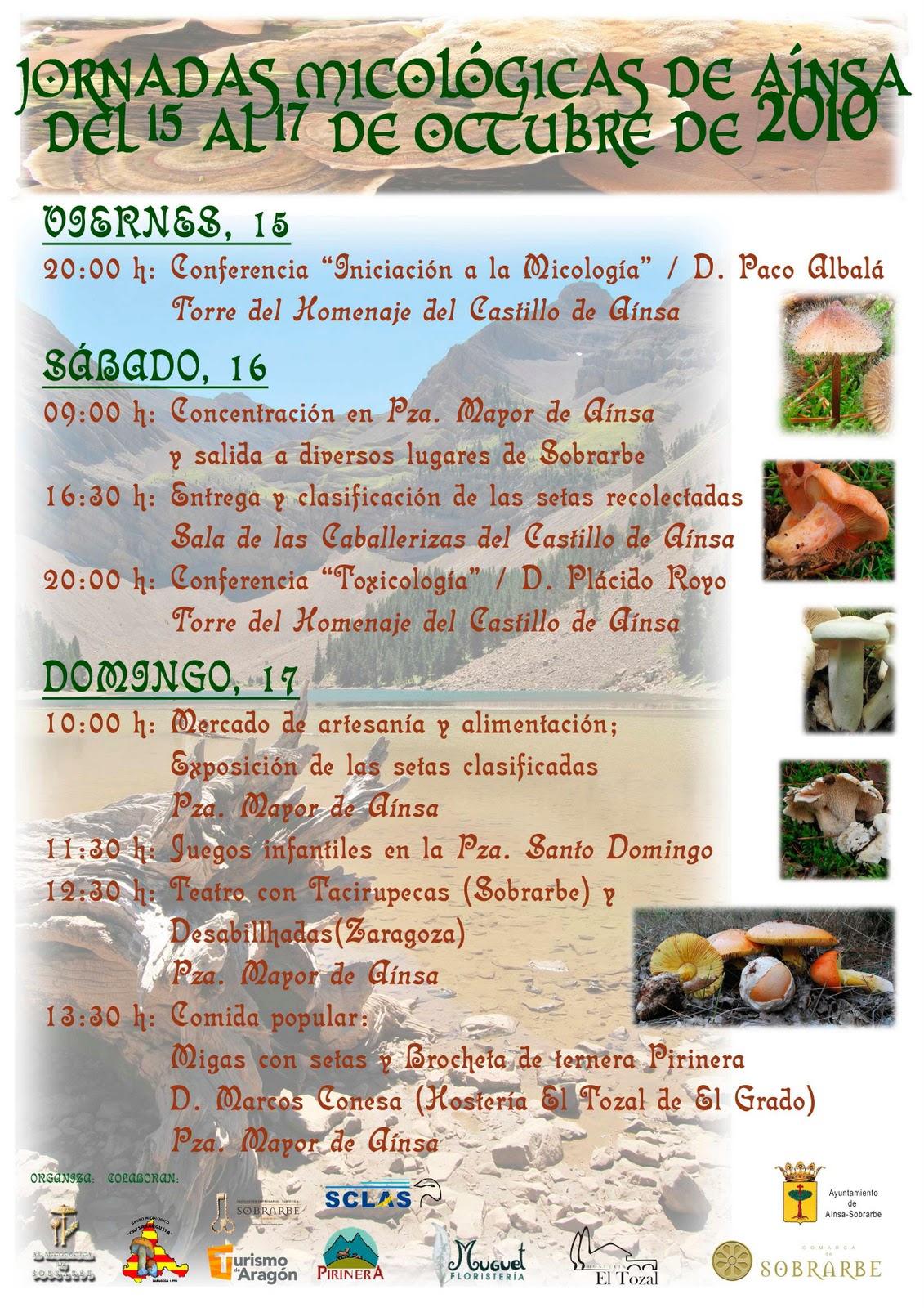 jornadas micológicas en Sobrarbe - ordesa