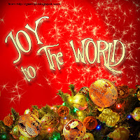 joy to the world postcard christmas greeting card, new year celebration, party sparkles, red background, decorations, ornaments, green tree, celebrate, happy, merry, photoshop psd template, gtemplates, download, free