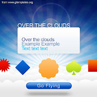 fly over the clouds flying template photoshop psd free download edit modify gtemplates