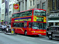 london double decker tour ride red free psd photoshop template download flyer advertise ad poster cover layer brochure