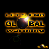 global warming logo sphere photoshop psd template flyer cover page poster signature stop