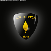 black and gold logo photoshop psd template free gtempl.blogspot.com