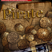 pirate gold rom rum spanish gold spain treasure pistol gun sail matey old paper
