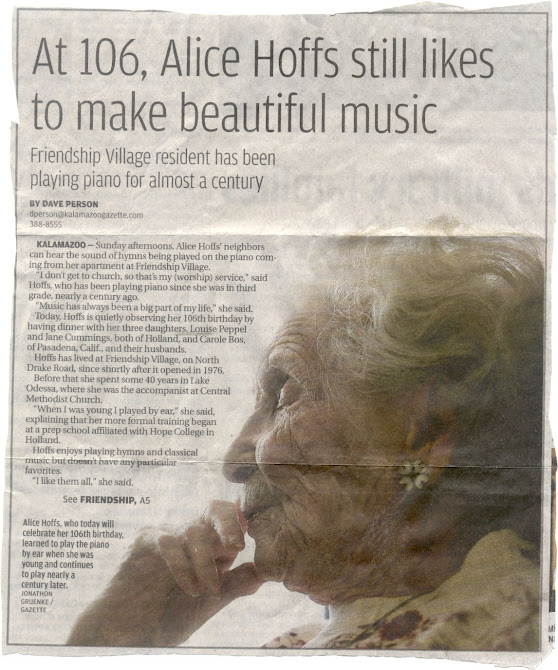 MOM SENT THIS CLIPPING TO ME; HAD GRANDMA WILMA'S HEART BEEN STRONG, SHE MIGHT HAVE LIVED THIS LONG