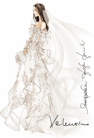 Designer Wedding Dress Sketches