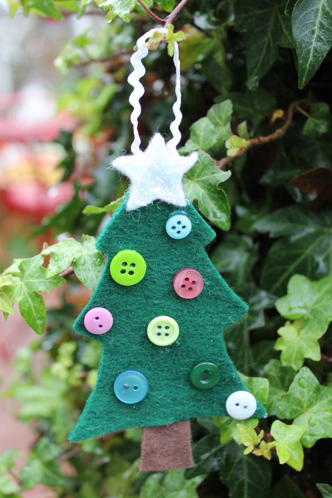 Lu Bird Baby: Felt Christmas Tree Ornament (for kids)
