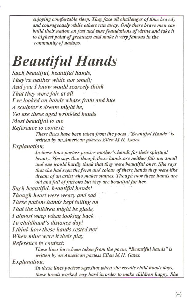 Beautiful Hands Poem 46