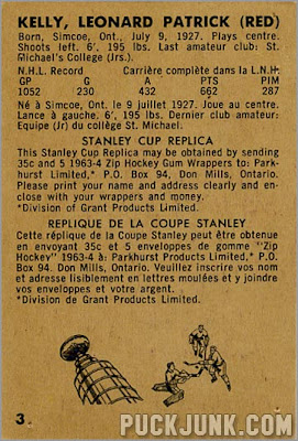 1963-64 Parkhurst #3 - Leonard (Red) Kelly