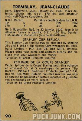 1963-64 Parkhurst #90 – J.C. Tremblay