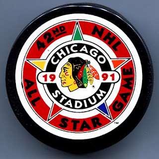 1991 All-Star Game Puck