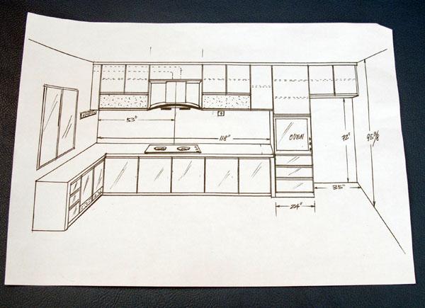 Lakaran Kabinet Dapur Desainrumahid Com