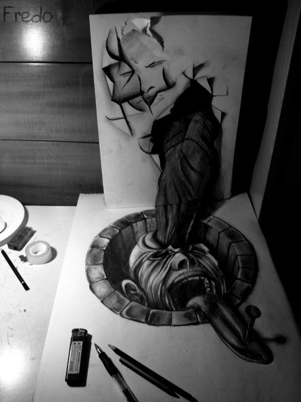 Amazing 3D Pencil Art - Graffiti Alphabets Art