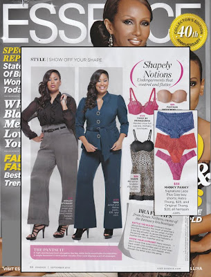 Sexy Hanky Panky lace Plus size thongs and boyshort lingerie in Essence Magazine.