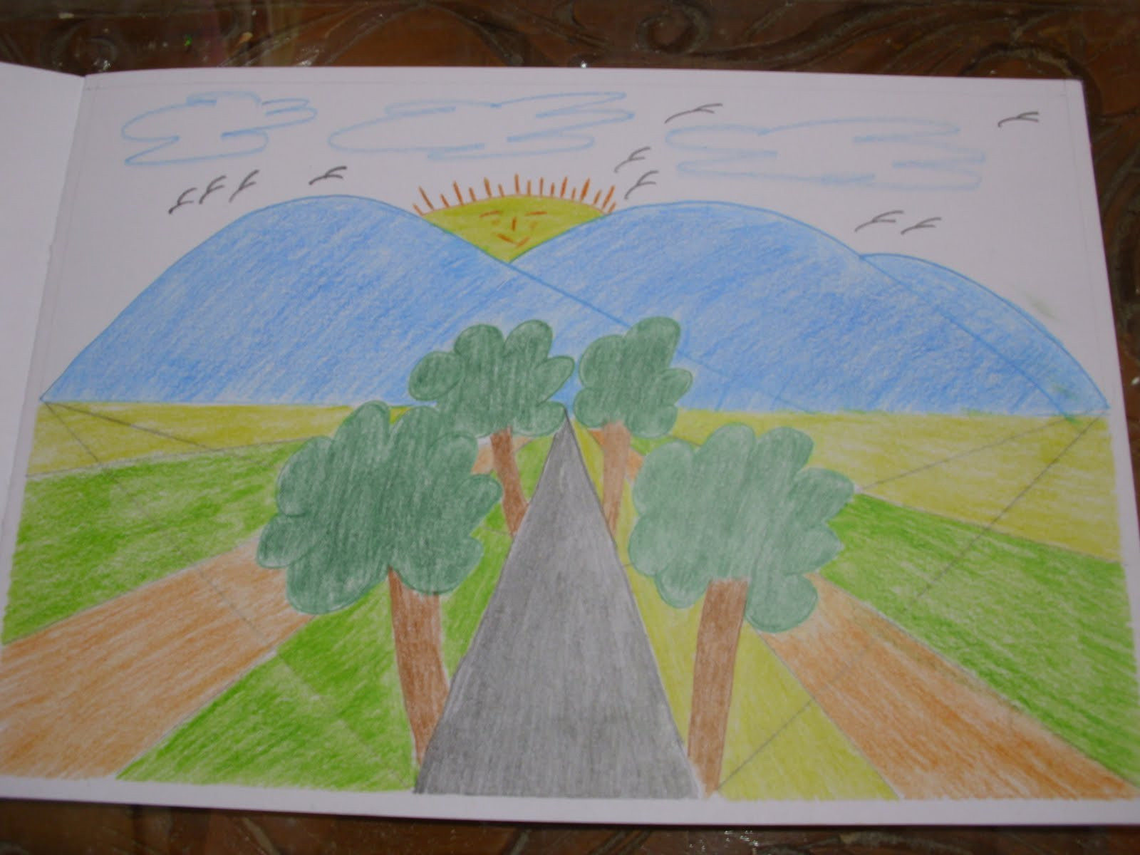 Gambar Pemandangan Alam Anak Sd Kelas 3 - Gambar Pemandangan