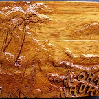 A Picture of Hawaii Carved in Wood