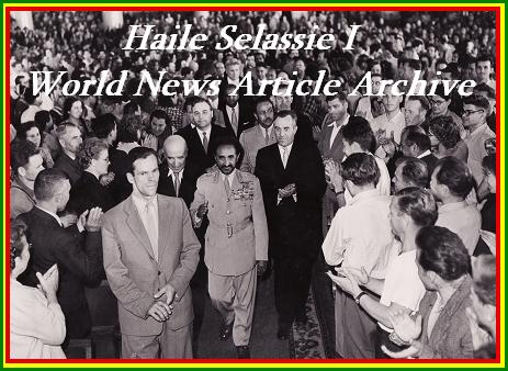 Haile Selassie I World News Article Archives