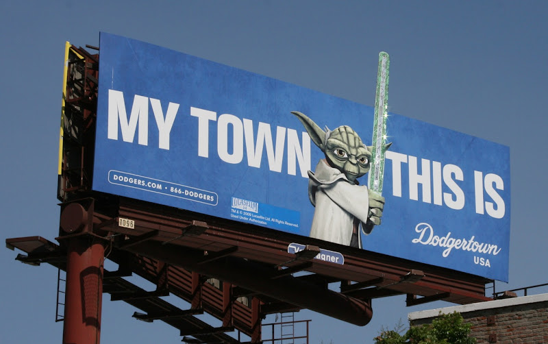 Yoda Lightsaber Dodgertown billboard