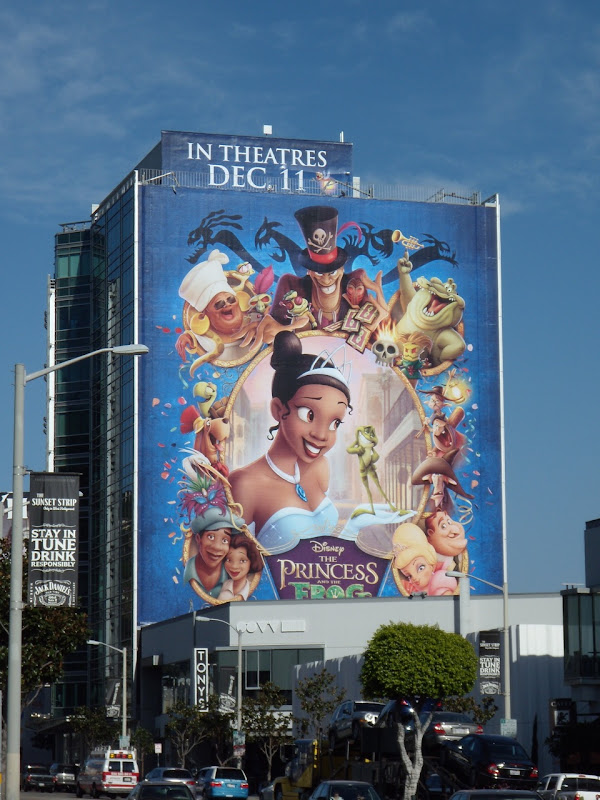 Disney Princess and the Frog movie billboard