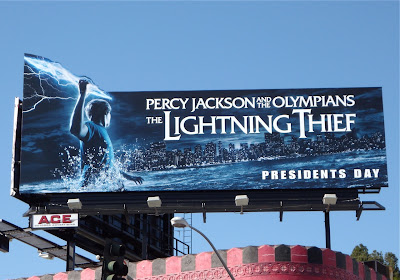 Percy Jackson The Lightning Thief movie billboard