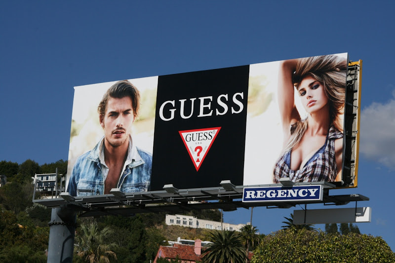Guess fashion models billboard