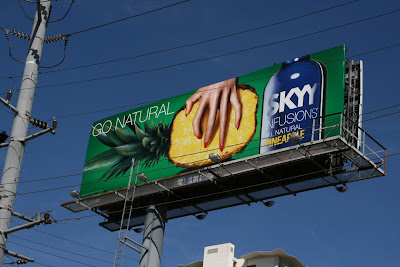 Pineapple Skyy Vodka billboard