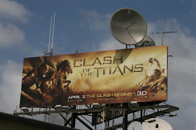 Clash of the Titans heroes movie billboard