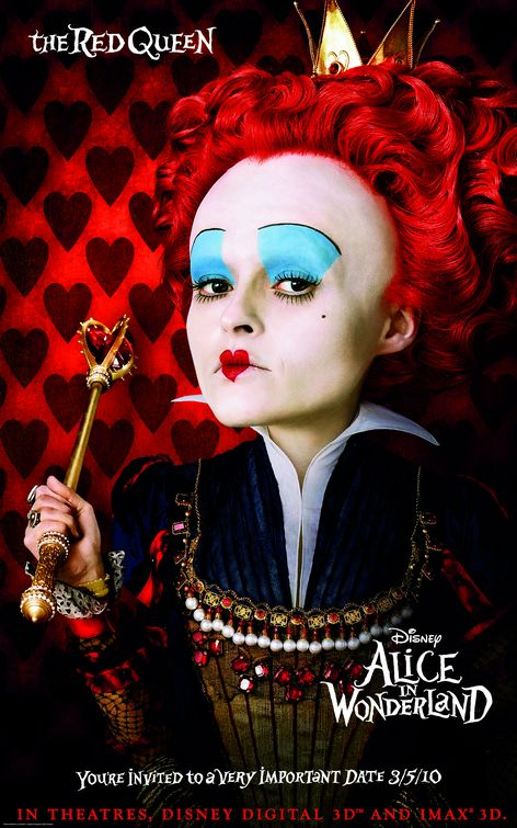 Red Queen Alice in Wonderland poster