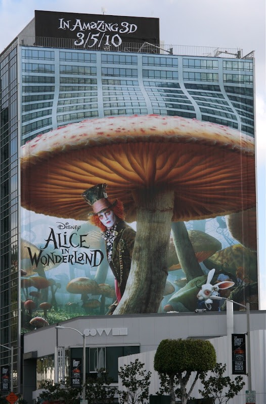 Disney Alice in Wonderland billboard