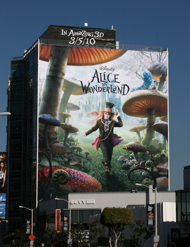 Mad Hatter Alice in Wonderland movie billboard