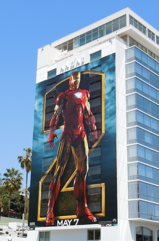 Giant Iron Man 2 film billboard
