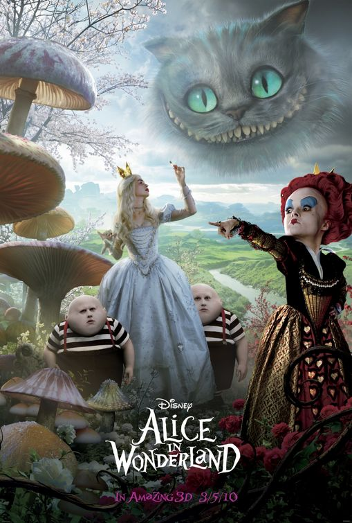 Disney Alice in Wonderland film poster
