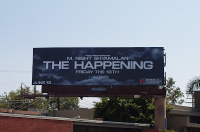The Happening movie billboard on Melrose Avenue in L.A.