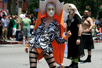 A Sister of Perpetual Indulgence at the L.A. Gay Pride Parade June 2008
