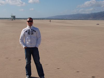 Jason in Hollywood before the move on Santa Monica Beach
