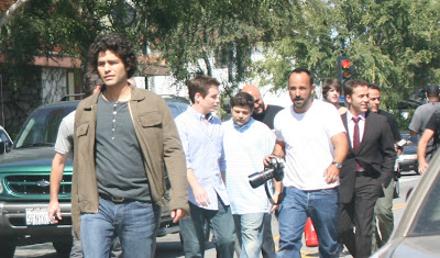 Adrian Grenier, Jeremy Piven and the cast of Entourage celebrity sighting
