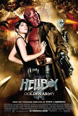 Hellboy II - BPRD Agent Liz Sherman and Hellboy movie poster