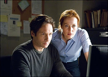 David Duchovny and Gillian Anderson as Fox Mulder and Dana Scully in The X-Files - I Want To Believe movie