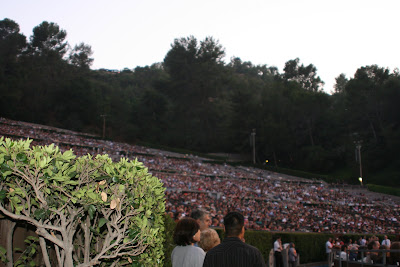 The Hollywood bowl can hold a capacity of almost 18,000